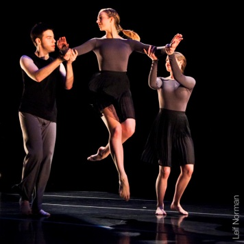 L to R: James Thomson-Kacki, Sarah Helmer, Rachelle Bourget. Photo: Leif Norman, 2013.