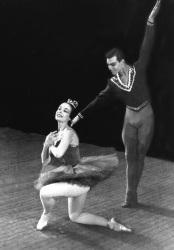 BLUEBIRD VARIATION from Royal Winnipeg Ballet's 1960-61 season. Dancers: Rachel Browne, Richard Rutherford.