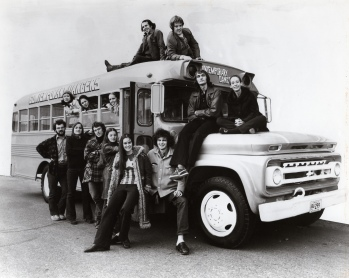 The Bus, WCD in 1971. Rachel at far right on hood.